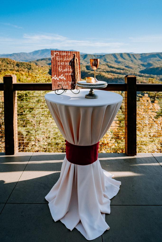 Ceremony Table | Table Decor | The Magnolia Venue | Pigeon Forge, TN | Derek Halkett Photography