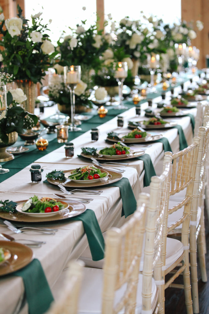 Long Table Setting | The Magnolia Venue | Custom Love Event Planning