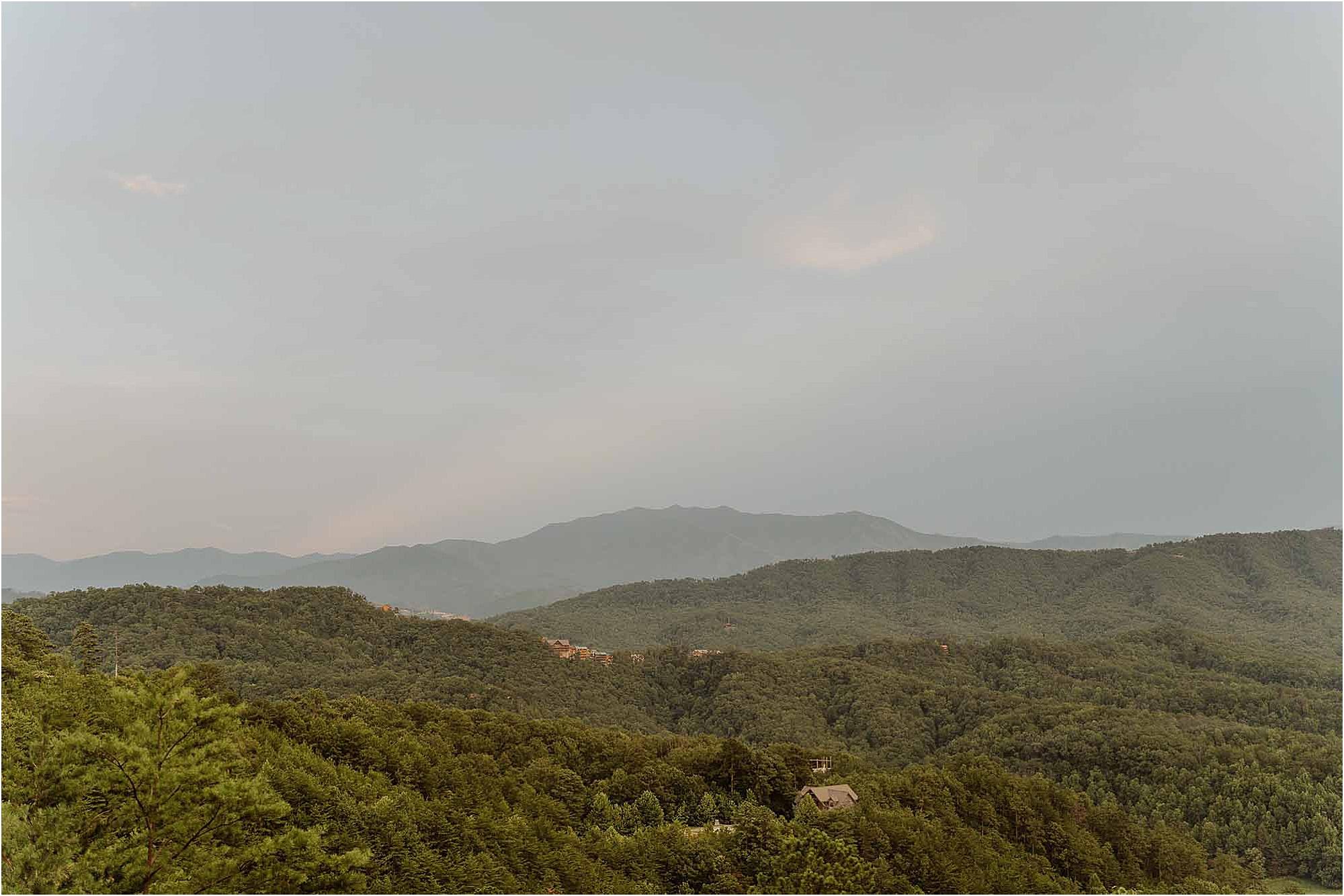Smoky Mountain wedding venue with a view