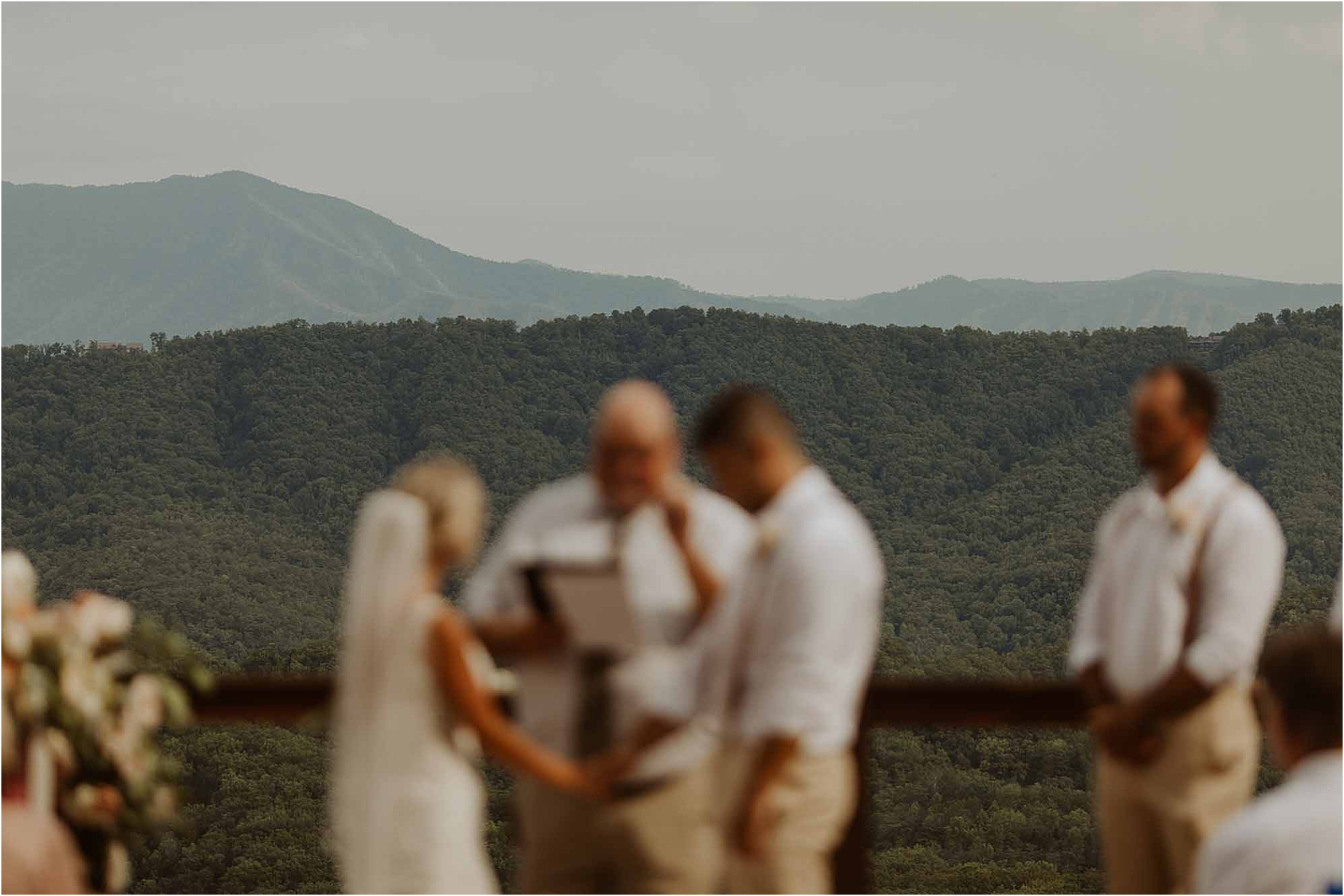 summer wedding ceremony in the mountains