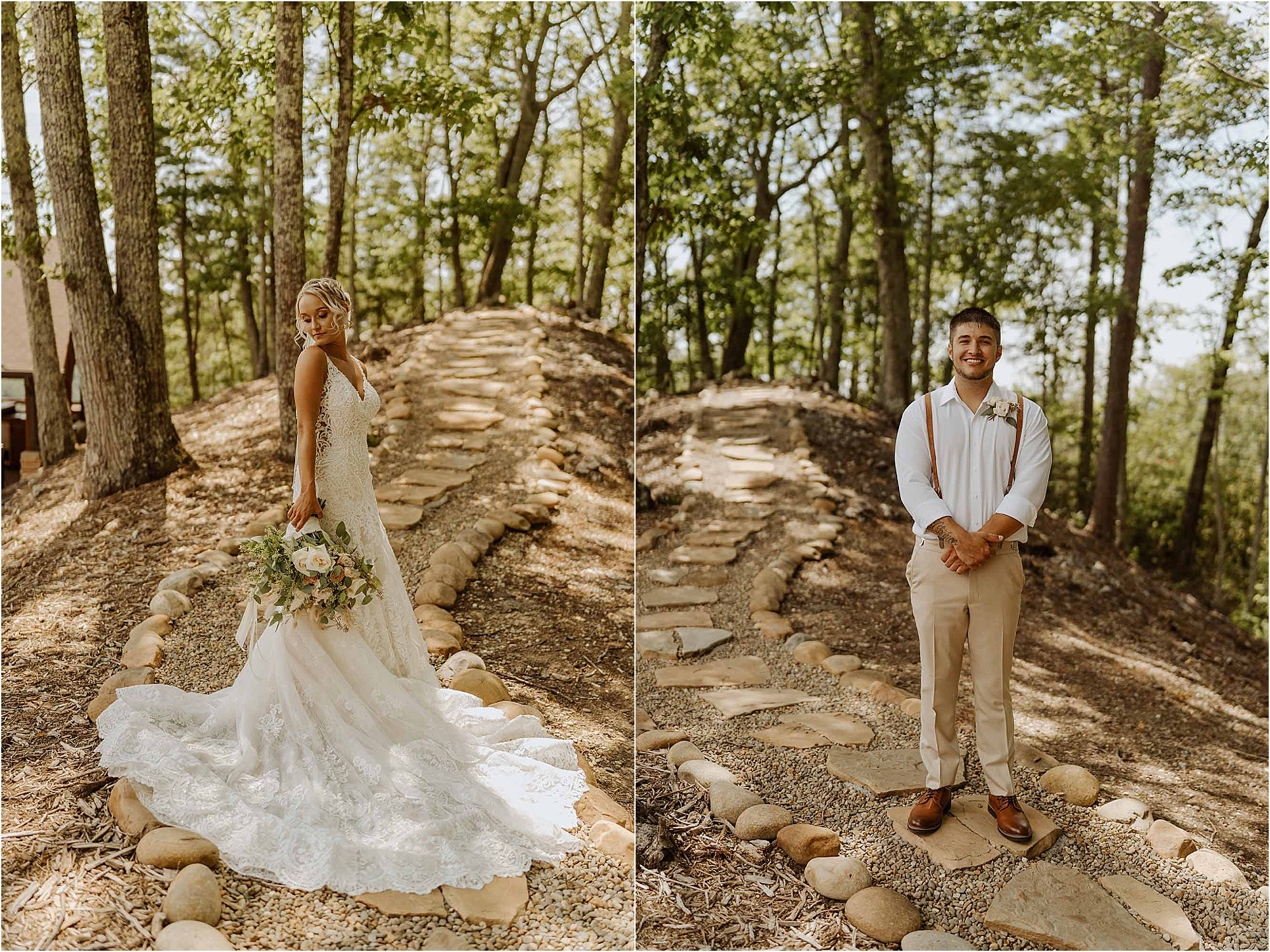 bride and groom portraits at The Magnolia Venue The Knoll