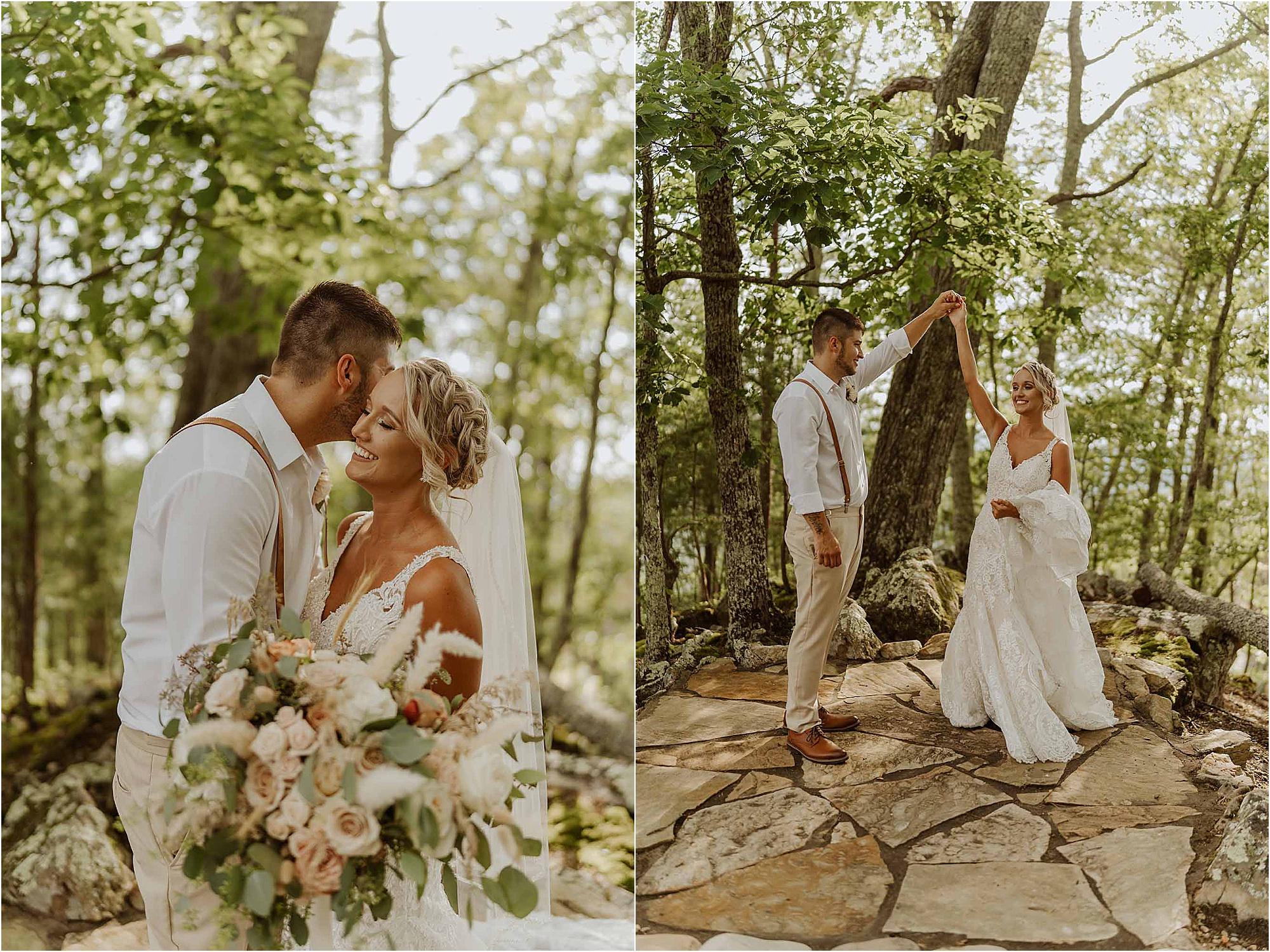 wedding couple photos at The Magnolia Venue