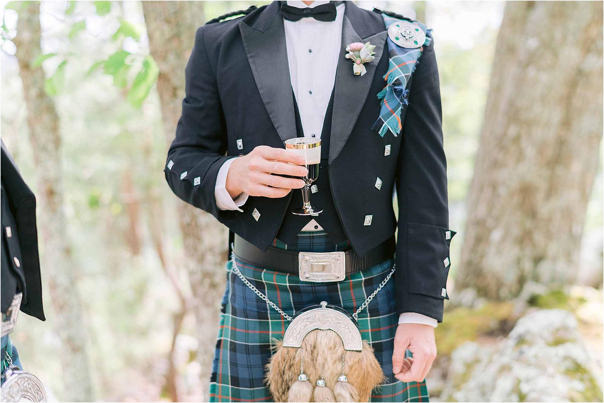 traditional jacket at Scottish Wedding