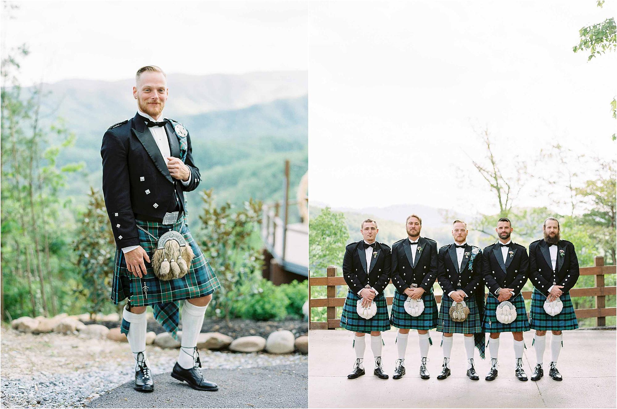 traditional groom attire at Scottish Wedding