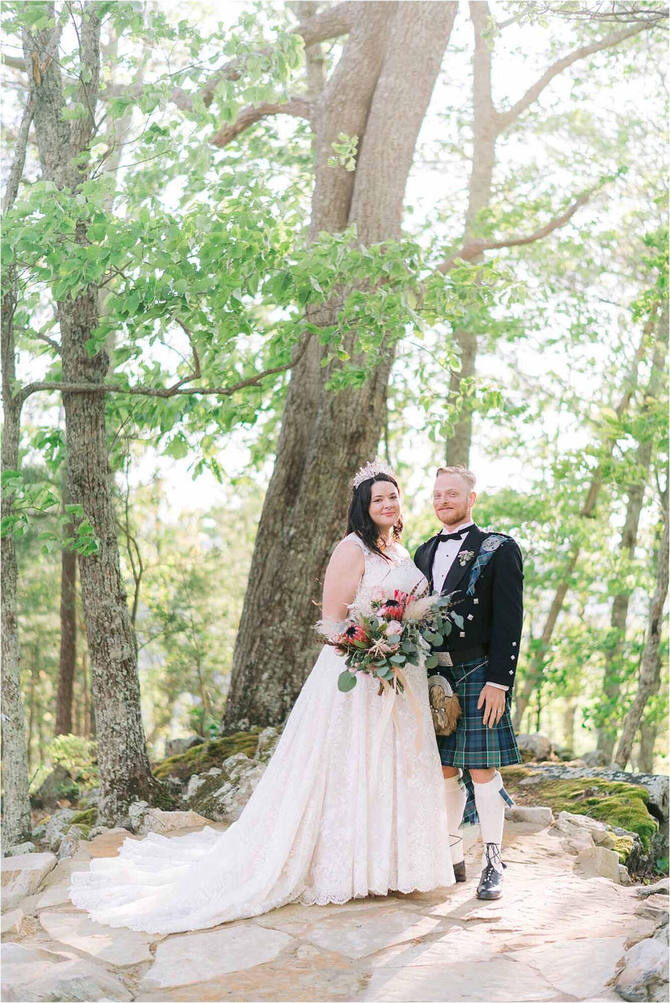 wedding photos of couple at Scottish Wedding