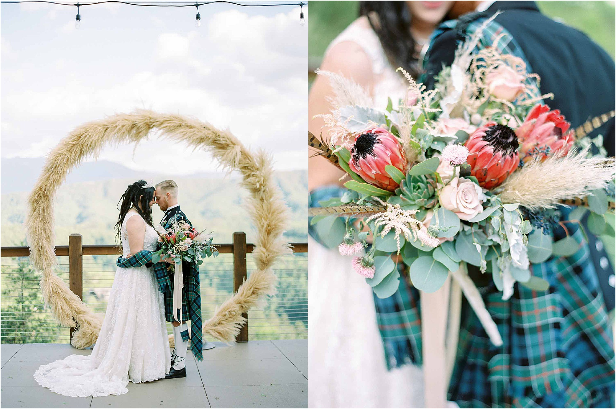 wedding couple photos at circle arbor