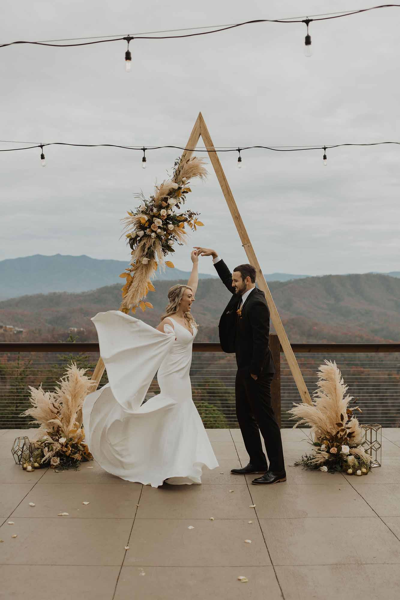 Triangle Wedding Arbor
