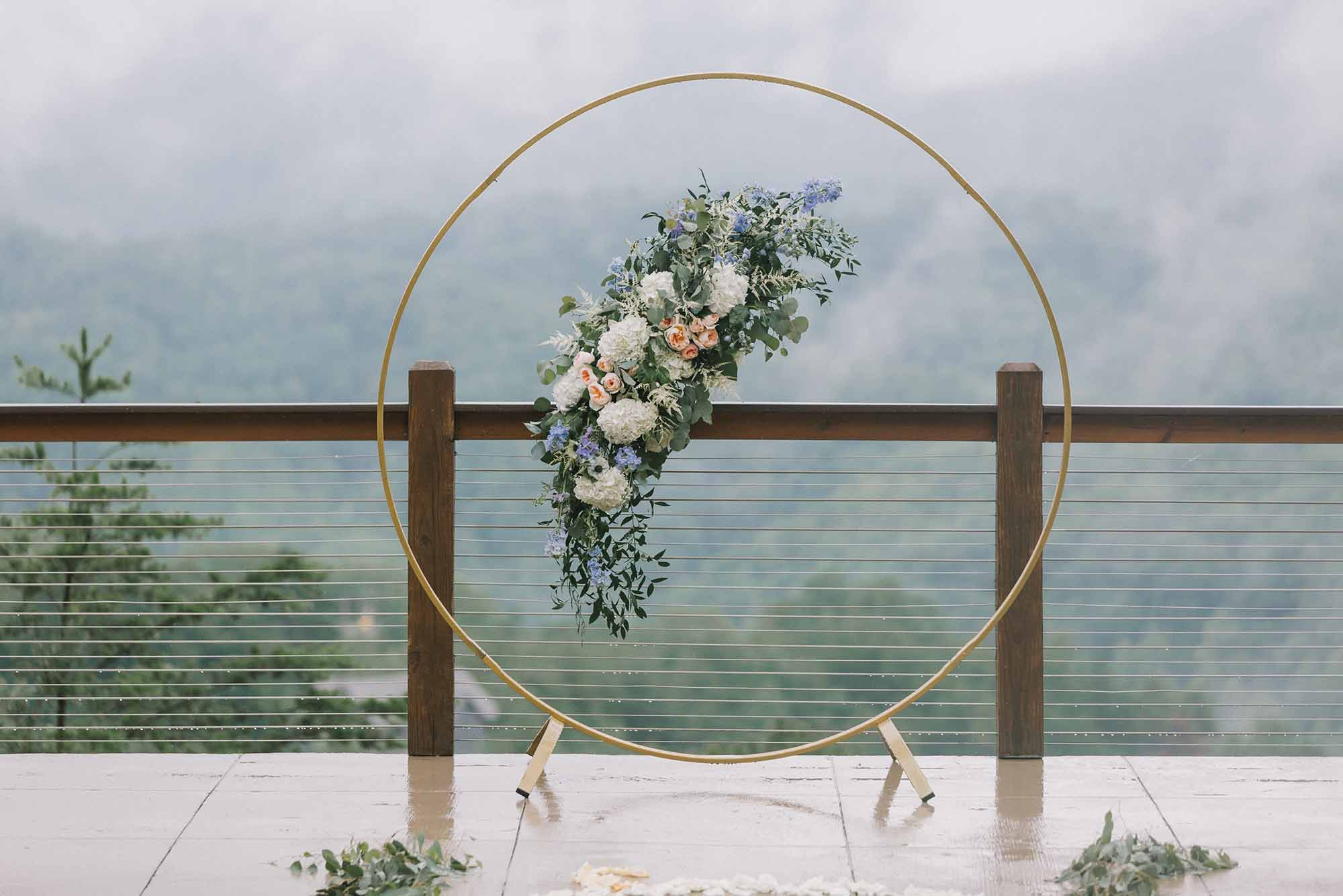 Floating Circle Arch for Wedding Ceremony