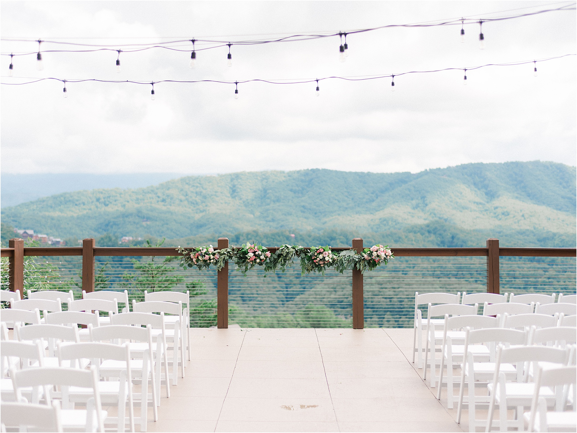 Ceremony background at The Magnolia Venue in Pigeon Forge, Tennessee