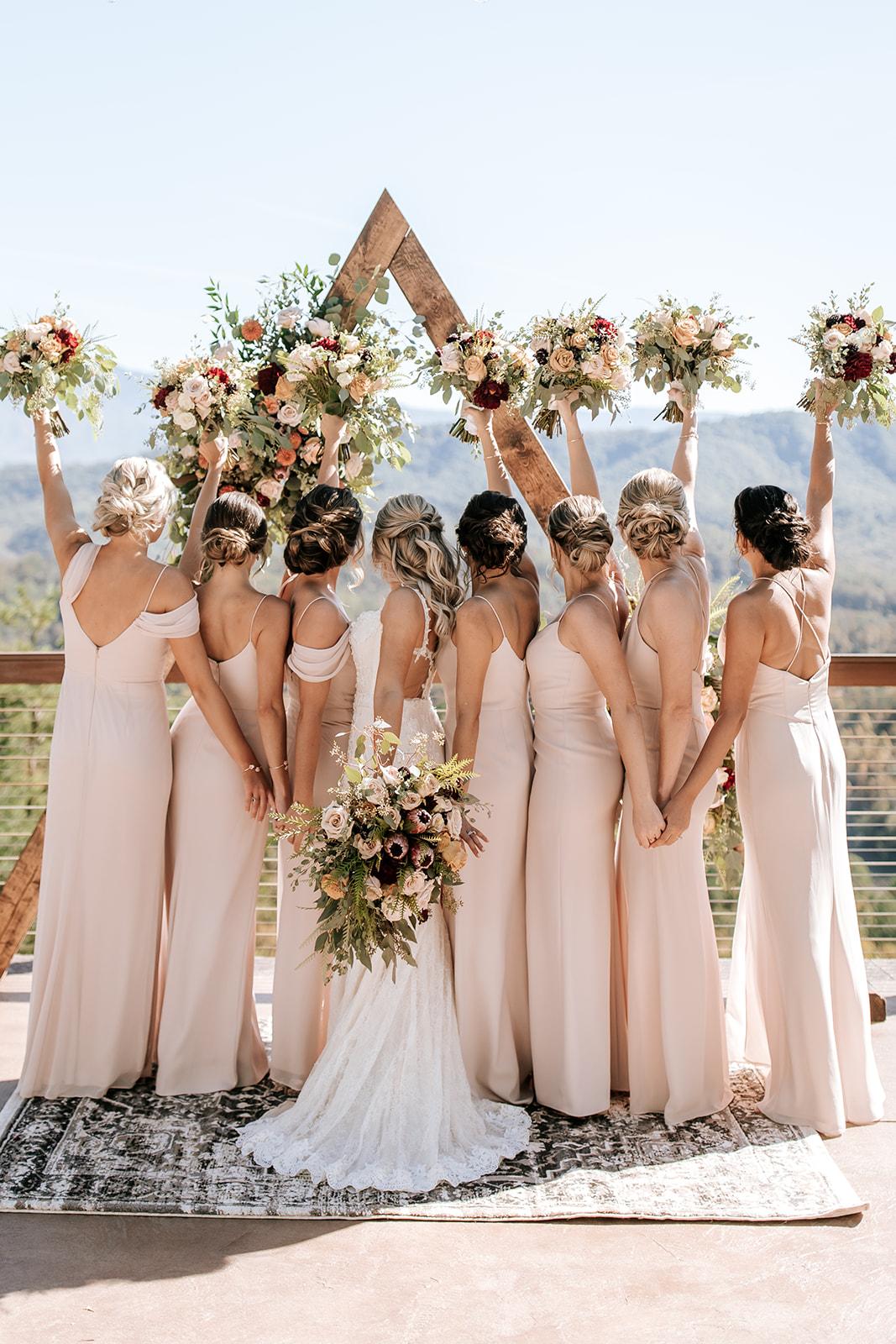Unique and Fun Bridesmaid Photos on a Wedding Day