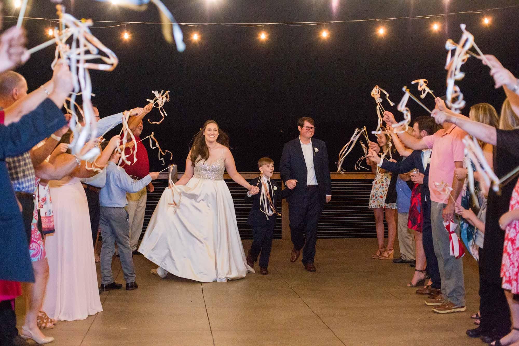 Ribbon Wand Wedding Exit Ideas