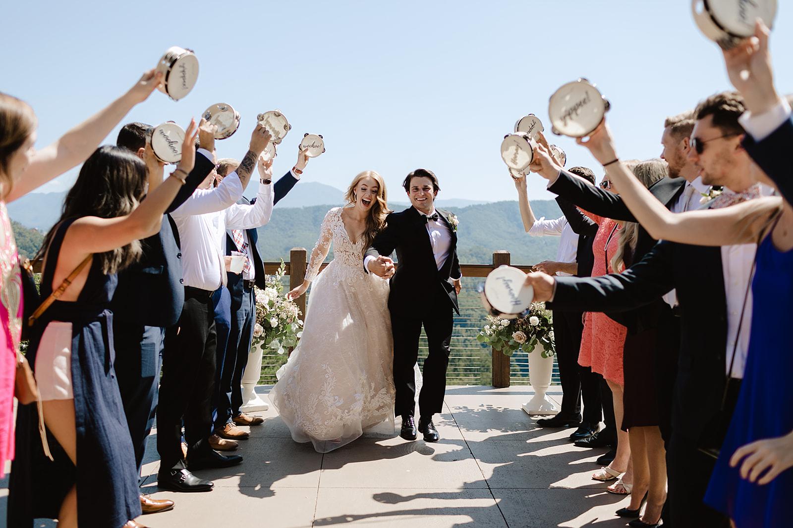 Tambourine Wedding Exit Ideas