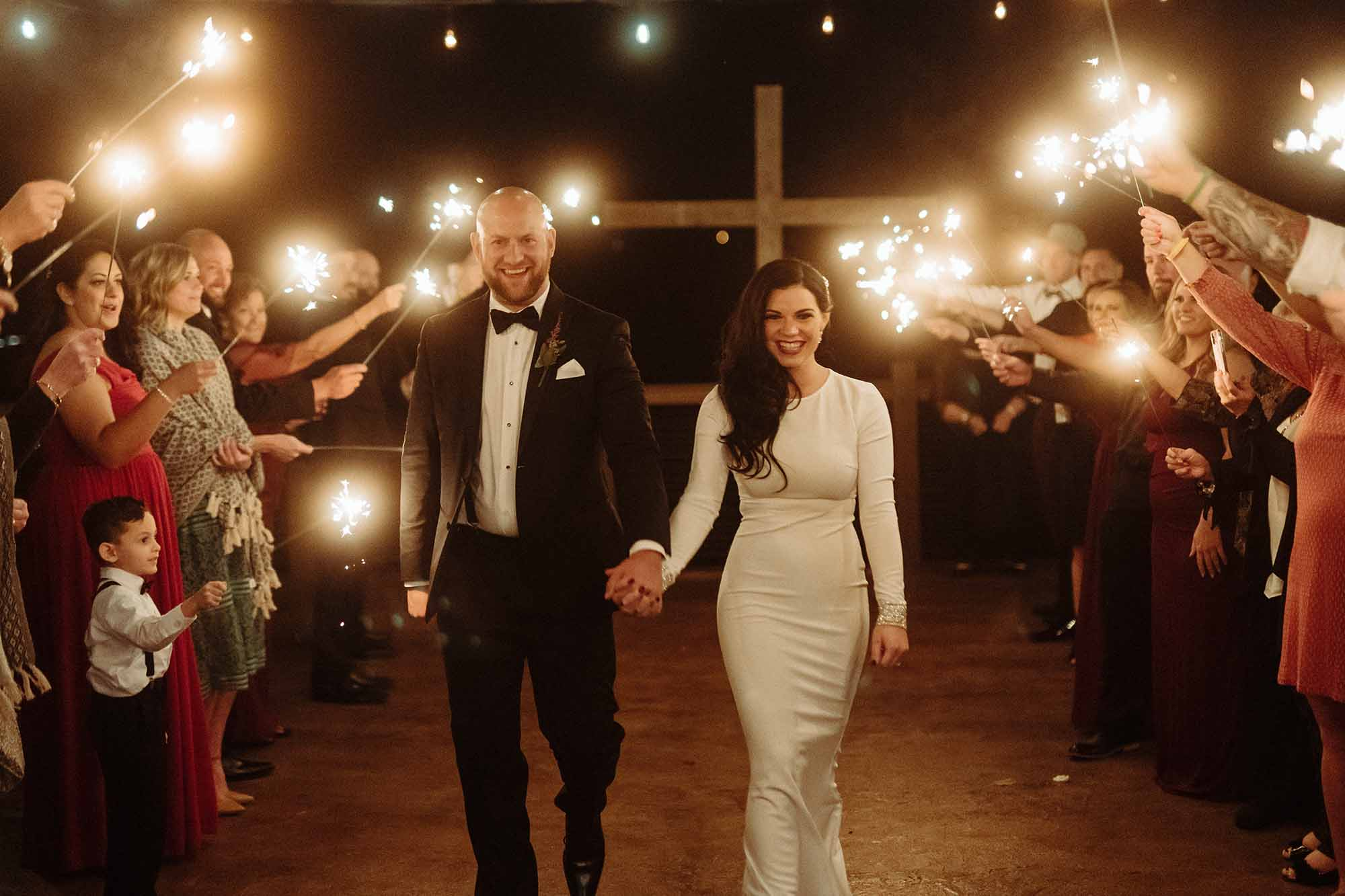 Sparkle Wedding Exit Ideas