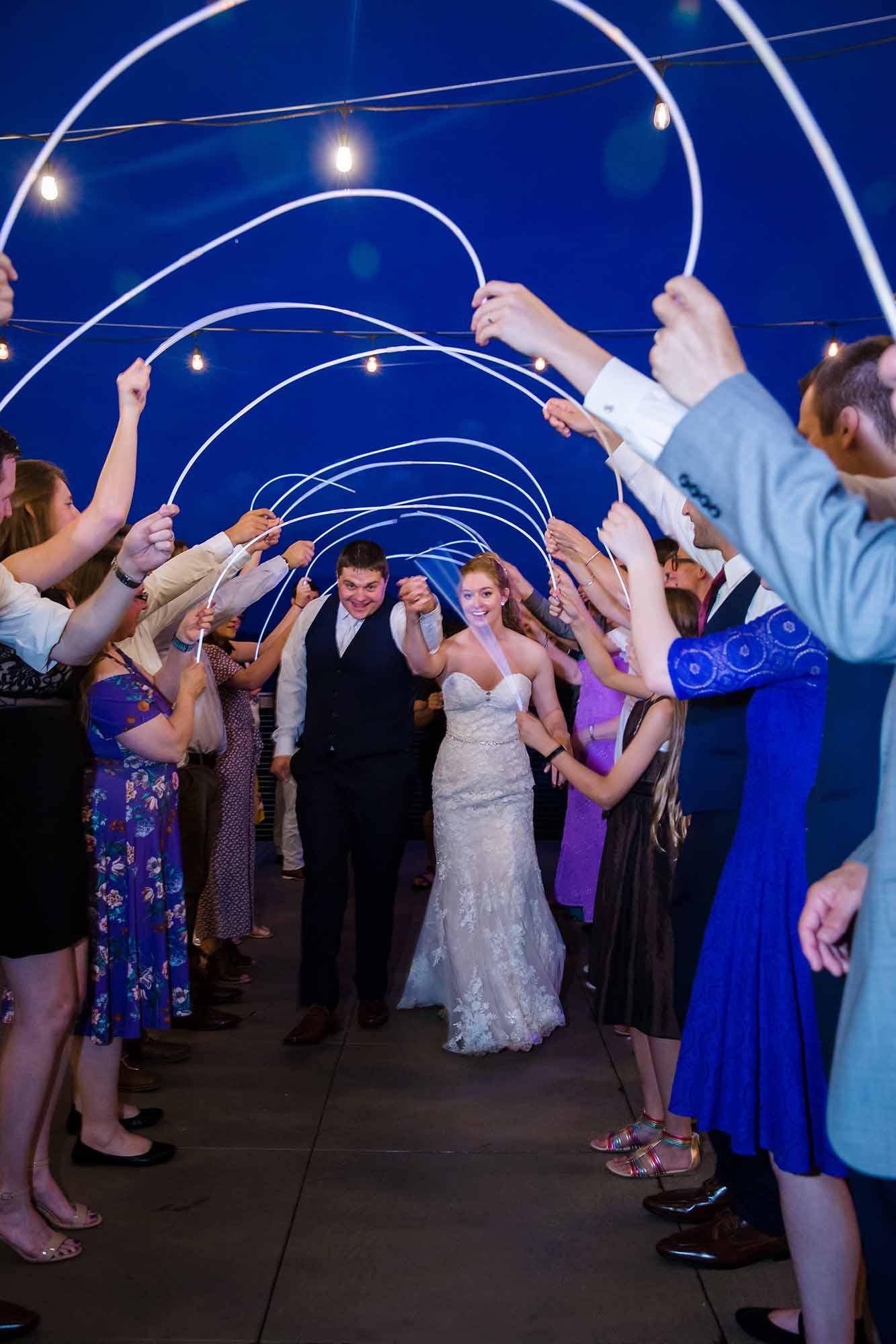 Glow Stick Wedding Exit Ideas