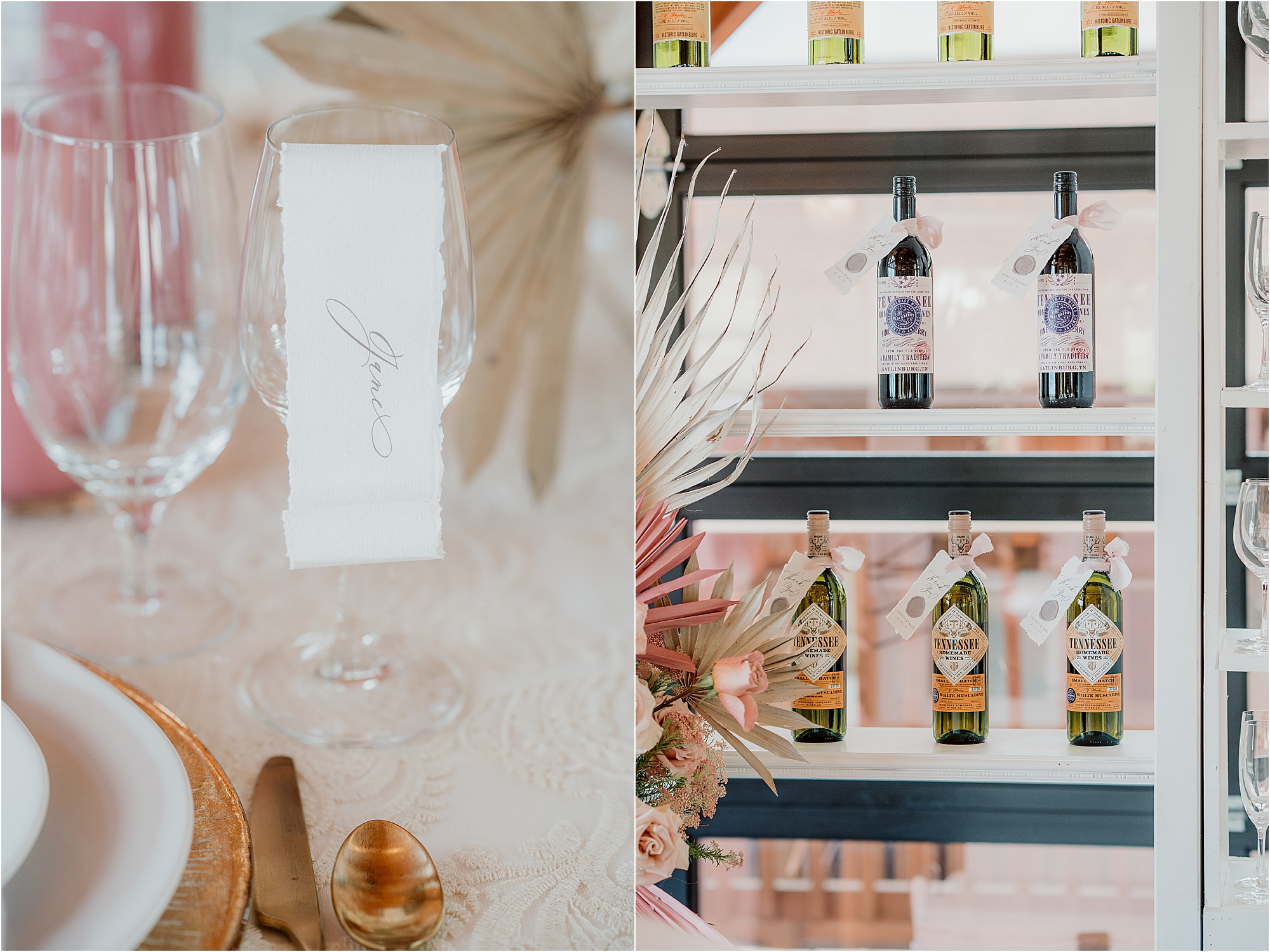 luxury wedding at mountain top venue with pink details