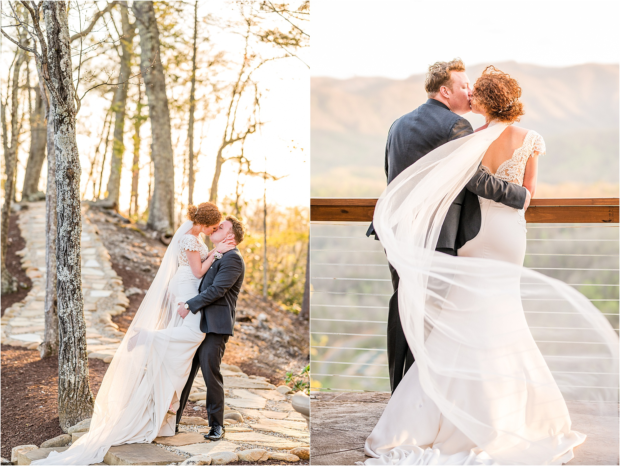 golden hour couple photos at The Magnolia Venue in Pigeon Forge, Tennessee