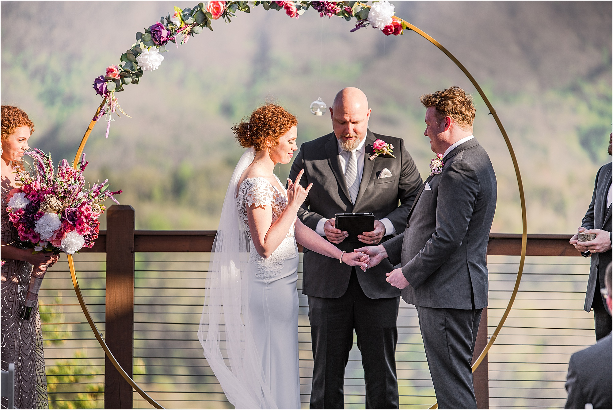 funky and fun Eclectic wedding ceremony