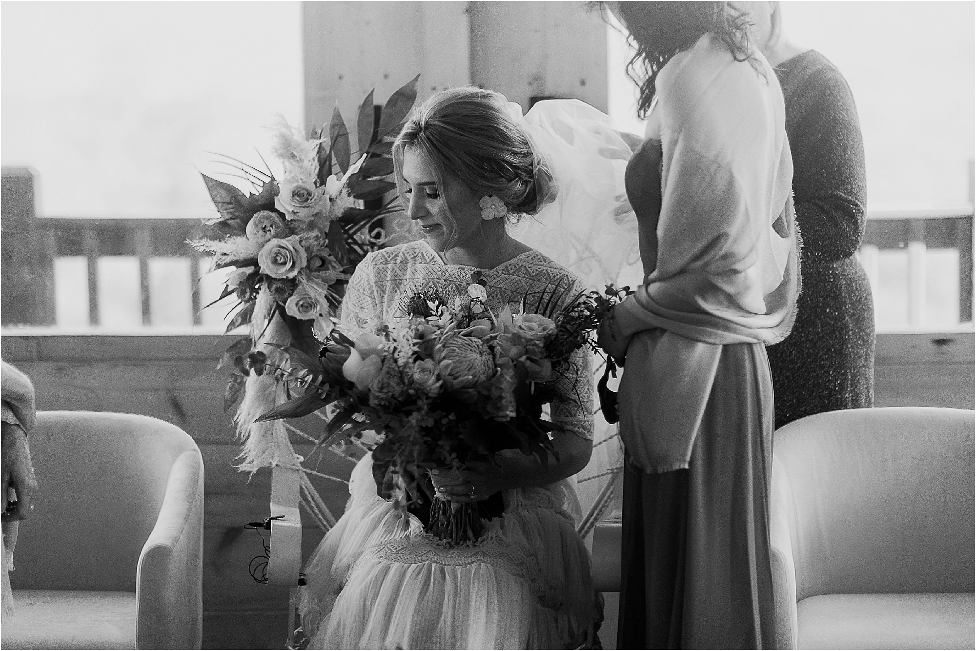 The B'deken at Jewish Wedding at Smoky Mountain Wedding Venue
