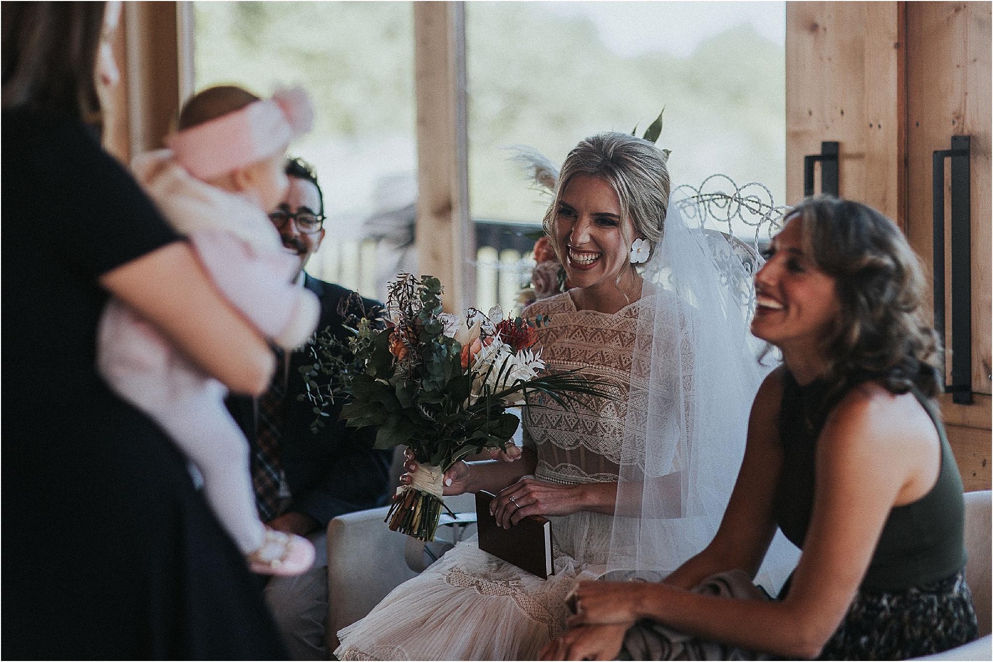 The B'deken between bride and groom