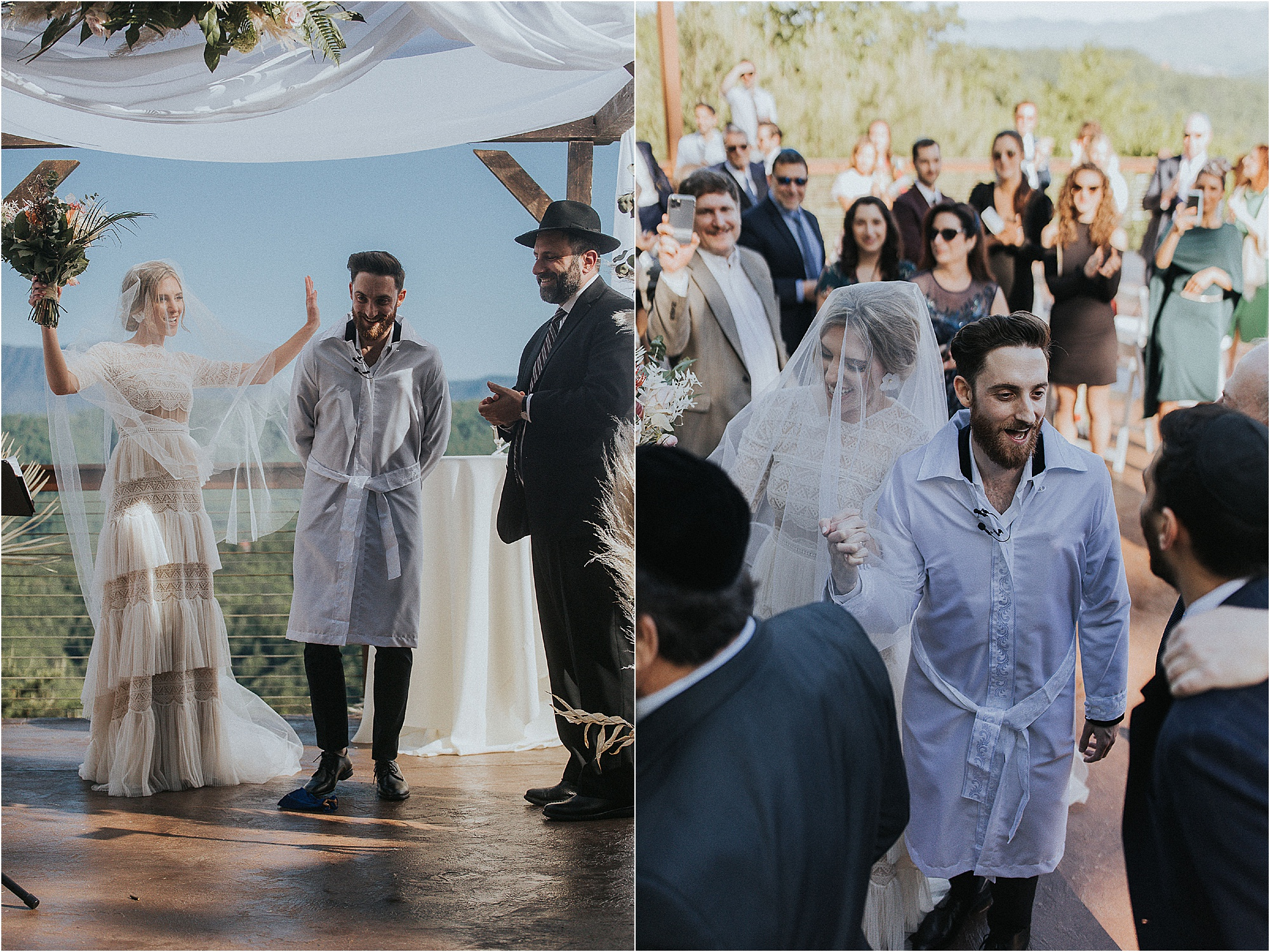 Mozel Tov! at Jewish Wedding