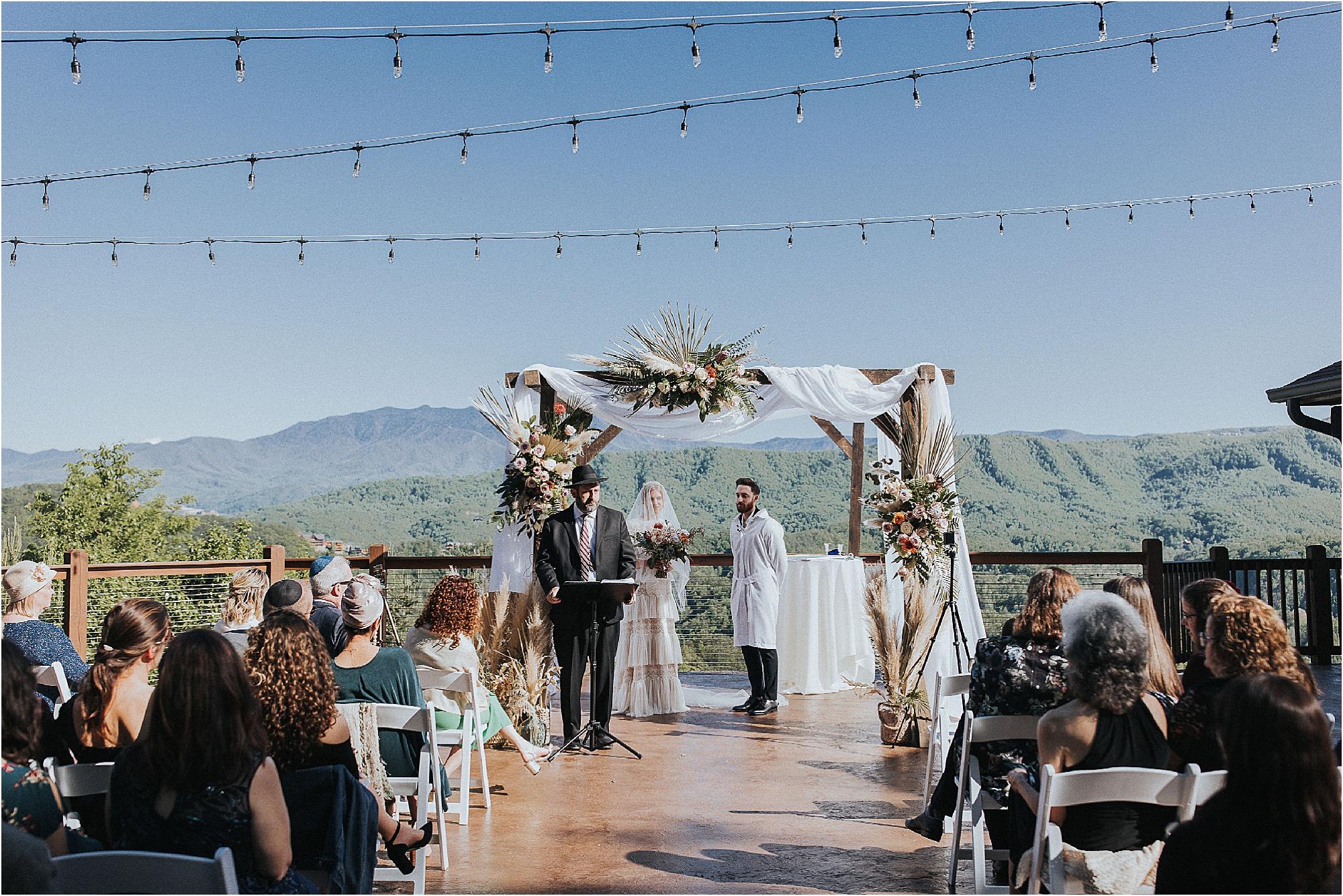 Joyful Jewish Wedding Overlooking The Great Outdoors