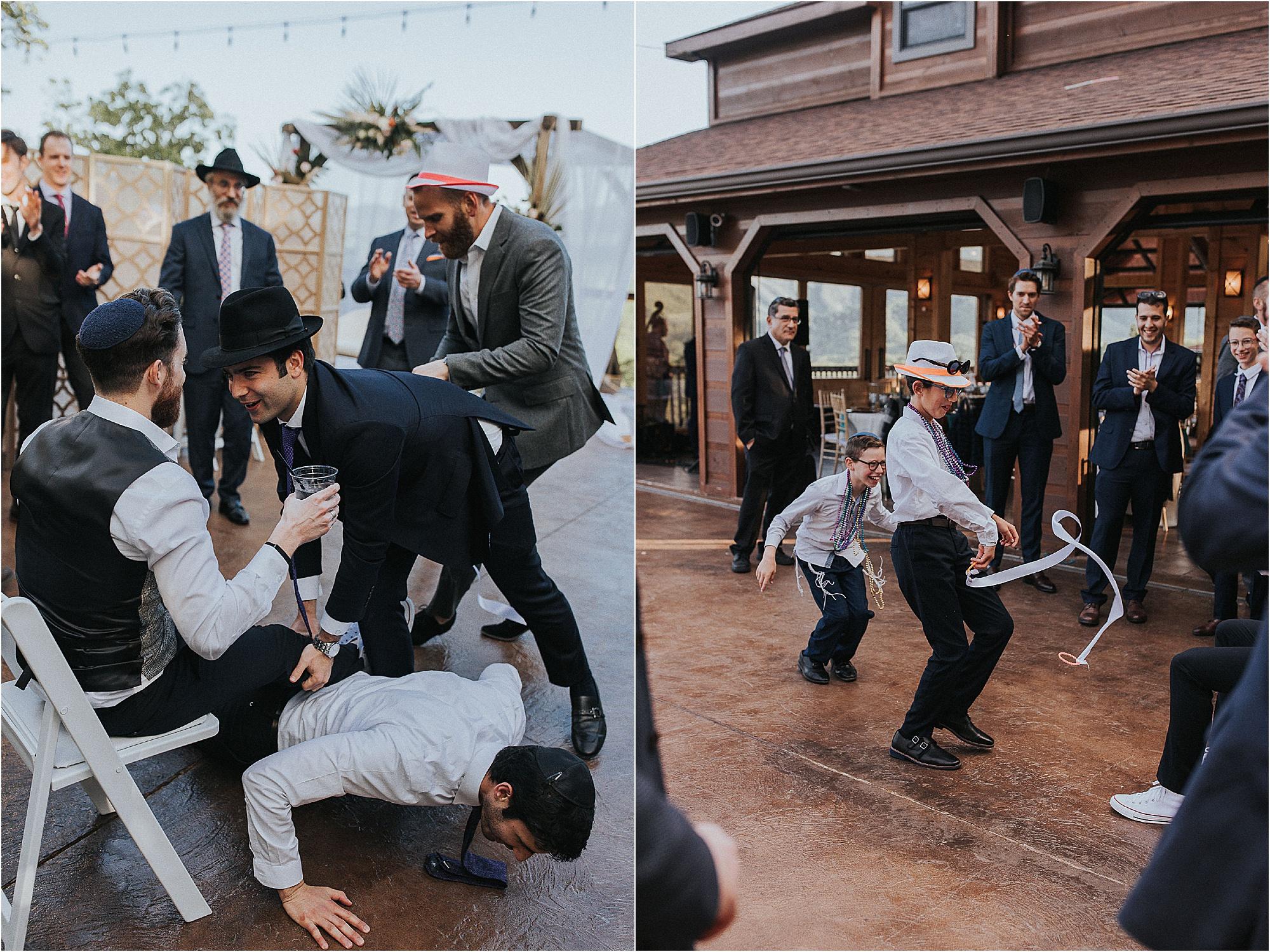 joyful wedding reception at Jewish wedding