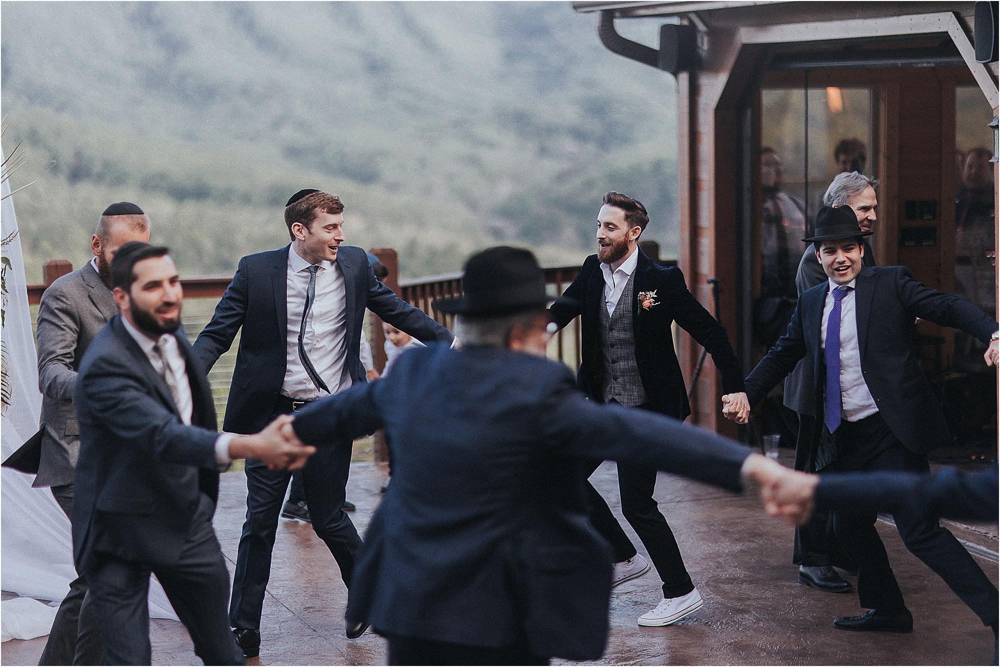 circle dancing at Jewish Wedding Reception