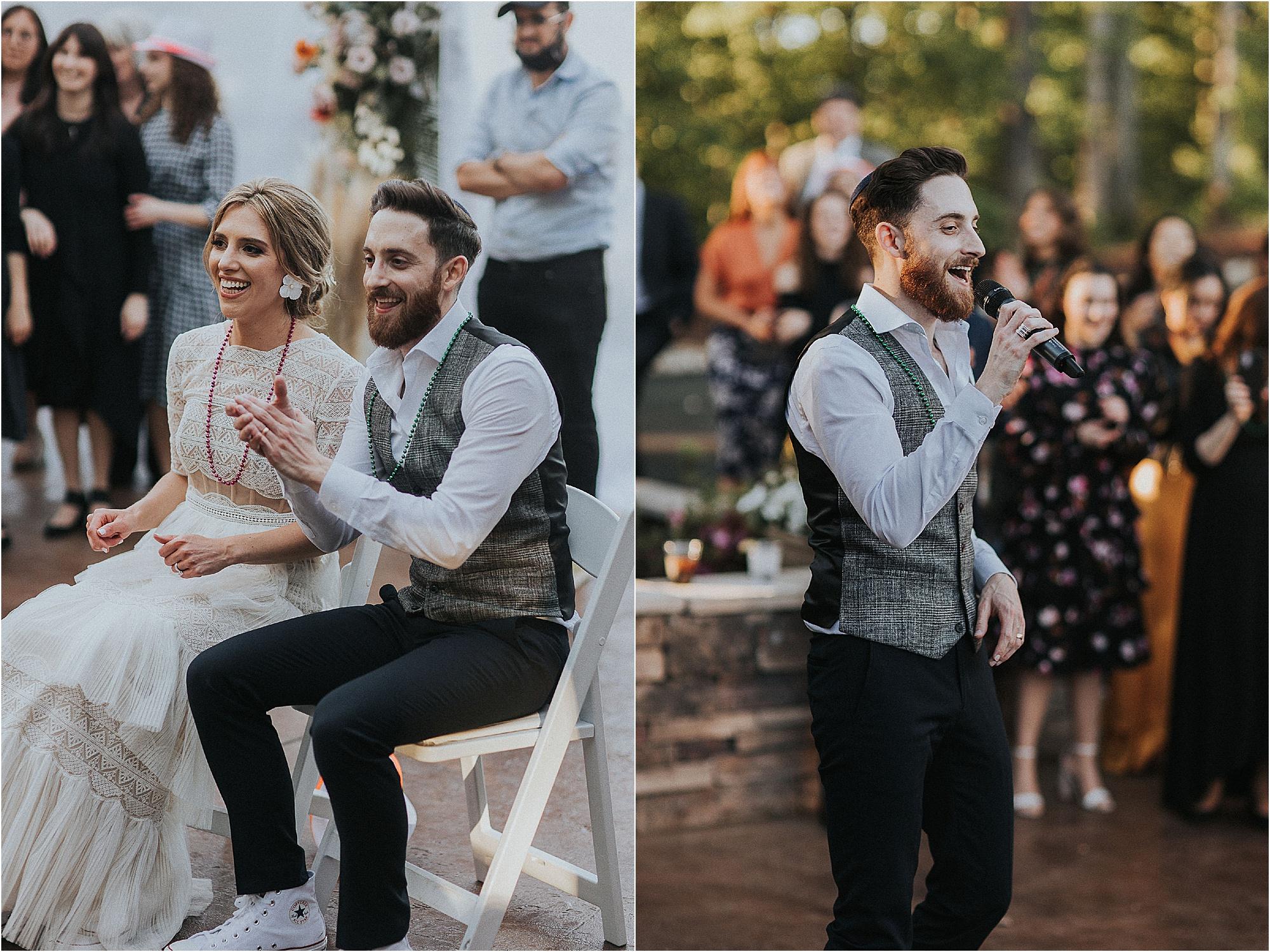 celebrating at a Jewish Wedding Reception