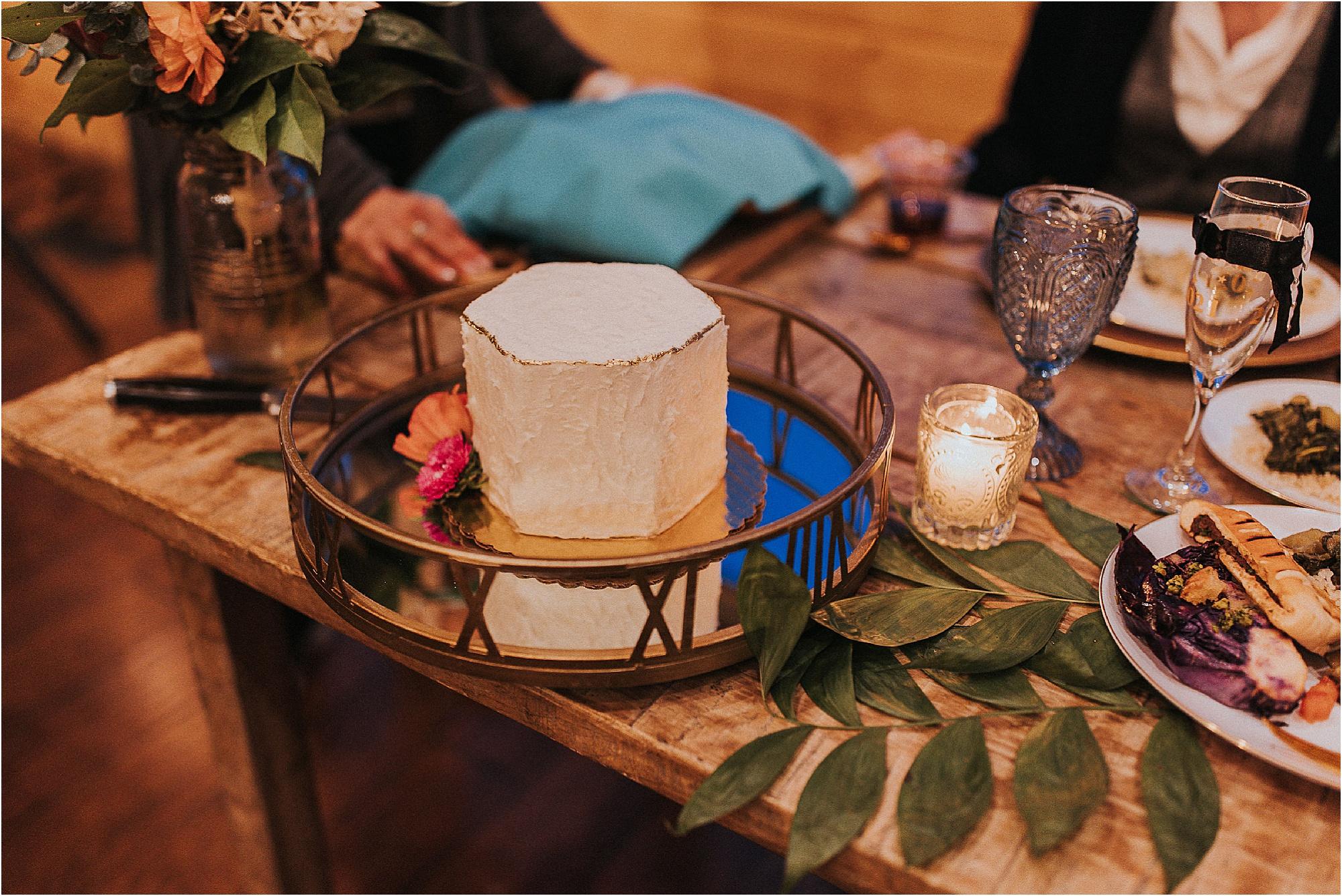 small wedding cake at Jewish wedding