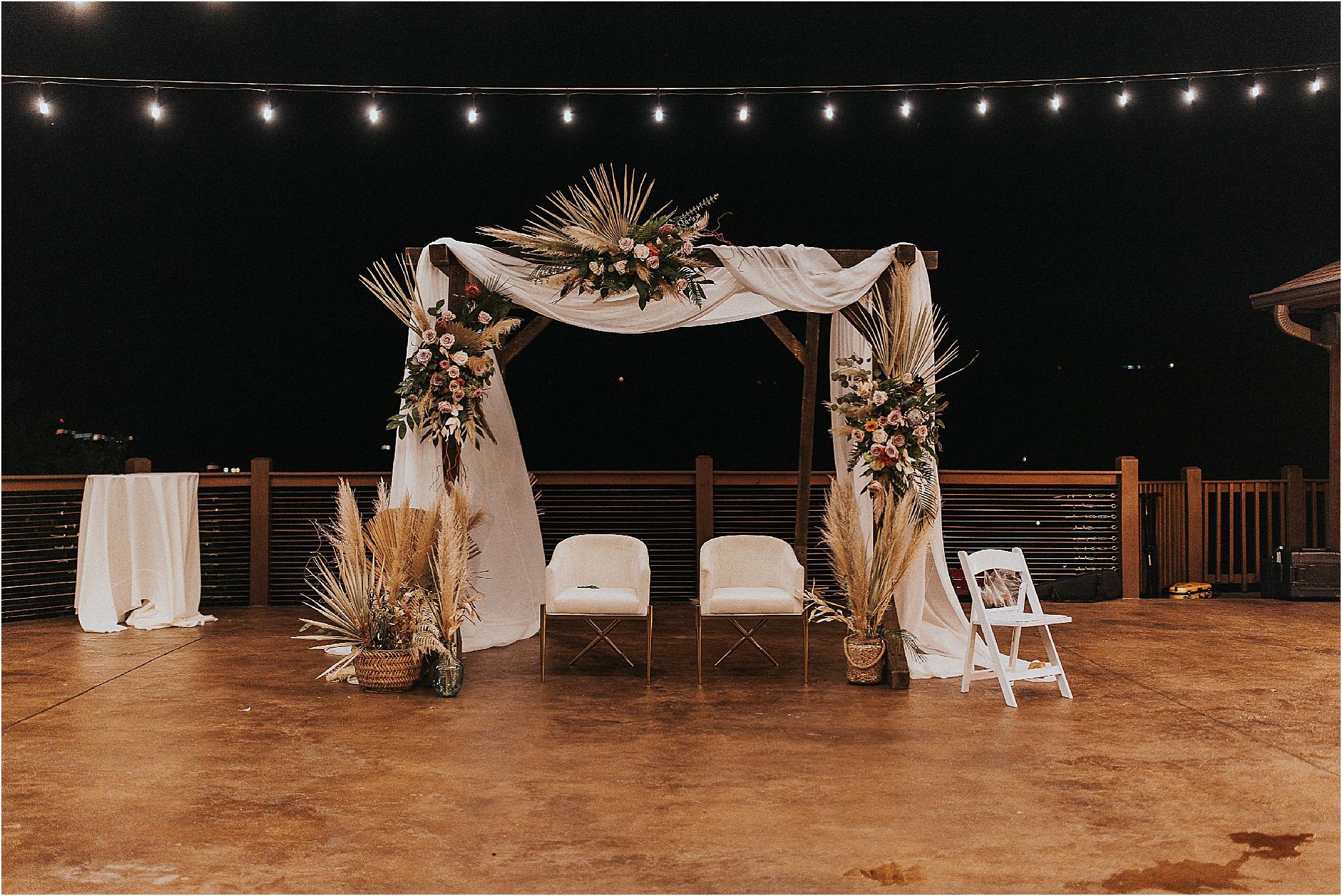 Huppah at wedding ceremony